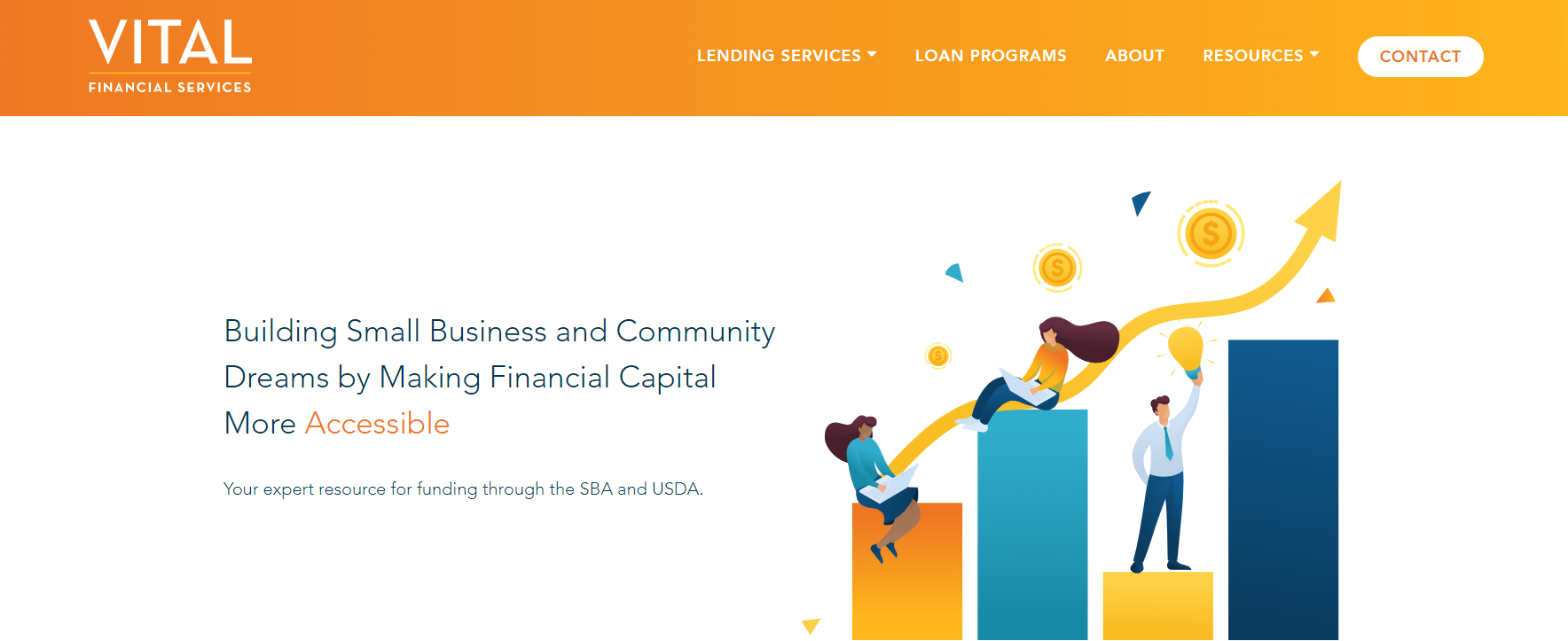 More SBA and USDA Loan Info and Resources on the New VITAL Website